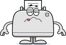 病的动画片打印机 库存图片