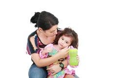病的女儿 免版税库存图片