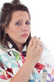 病的妇女 免版税图库摄影