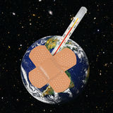 病的行星地球 免版税库存照片
