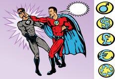 痛打超级英雄 免版税库存图片