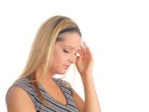 痛苦妇女年轻人 图库摄影