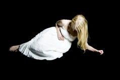 痛苦妇女 免版税图库摄影