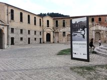 痣Vanvitelliana或Lazzaretto在安科纳,意大利 库存照片