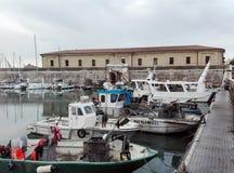 痣Vanvitelliana或Lazzaretto在安科纳,意大利 免版税库存照片