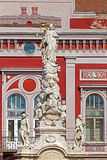 瘟疫雕象在自由广场 02罗马尼亚方形timisoara联盟 免版税库存图片