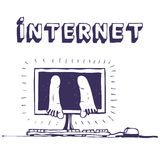 瘾互联网 免版税库存照片