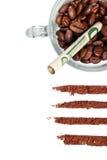 瘾最坏情况咖啡 免版税库存照片