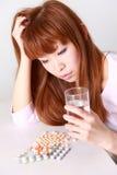瘾药物重点注射器 库存图片