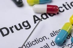 瘾药物重点注射器 图库摄影