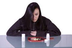 瘾青少年药物的问题 免版税库存图片