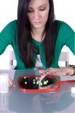 瘾青少年药物的问题 免版税库存照片