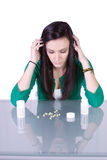 瘾青少年药物的问题 库存照片