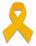 癌症儿童金丝带 免版税库存照片