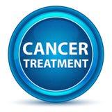 癌症治疗眼珠蓝色圆的按钮 皇族释放例证
