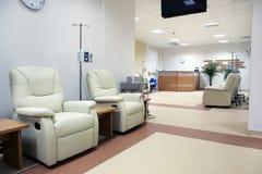 癌症治疗化疗室 免版税库存照片