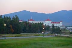 登上华盛顿旅馆,新罕布什尔,美国 免版税库存照片