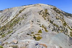 登上圣安东尼奥或登上Baldy,加利福尼亚 免版税库存照片