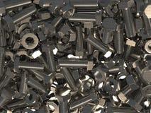 登上成套工具 一套金属紧固件 穿线的紧固件的教的图象从螺拴螺母和洗衣机的 3d 皇族释放例证
