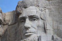 登上拉什莫尔亚伯拉罕・林肯 免版税库存照片