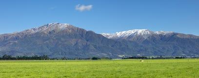 登上泰勒和登上在南部新西兰的赫特风景 免版税库存图片