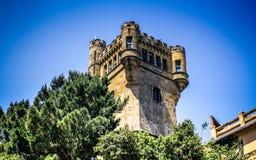 登上Igueldo塔在圣・萨巴斯蒂安,巴斯克地区 免版税库存图片