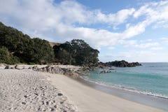 登上Maunganui海滩在陶朗阿,新西兰 图库摄影