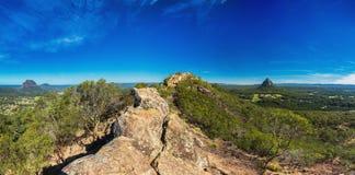 登上Ngungun,玻璃议院山,阳光海岸山顶, 库存照片
