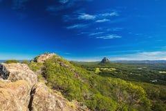 登上Ngungun,玻璃议院山,阳光Coa山顶  库存照片