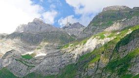 登上Saentis在Alpstein断层块 库存照片