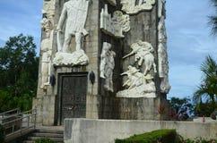 登上Samat全国寺庙 巴丹省菲律宾 免版税库存照片