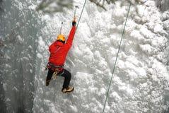 登山人冰 免版税库存照片