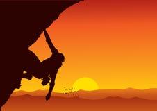 登山人向量 免版税库存图片