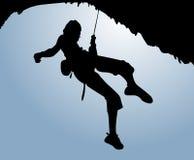 登山人天空 图库摄影
