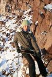 登山人女孩 库存照片