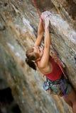 登山人妇女 库存照片