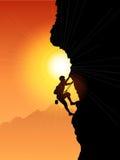 登山人岩石 免版税图库摄影