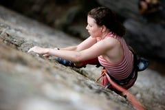 登山人岩石 图库摄影