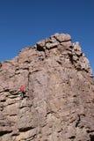 登山人标题顶层 免版税图库摄影