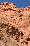 登山人科罗拉多岩石 库存照片