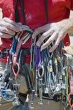 登山人设备组织 库存照片