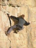 登山人释放 库存图片