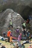 登山人 库存照片
