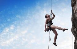 登山人 免版税图库摄影