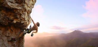 登山人 免版税库存图片