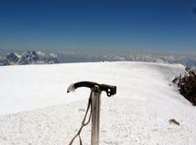 登山家在高加索 库存图片