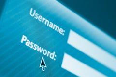 登录或签到表单 免版税图库摄影
