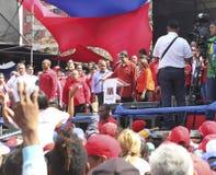 登记作为总统选举的候选人的尼古拉斯・马杜罗在委内瑞拉 免版税库存图片