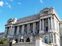 登记国会图书馆主要财宝 免版税库存照片