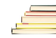 登记堆台阶梯子形状,查出的困难盖子,绿色读的(布朗)纸张 免版税库存照片